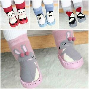 Infant Baby Boy Girl Toddler Anti-slip Winter Warm Cute Slipper Socks Crib Shoes