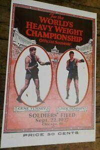 1927 World's Heavy Weight Championship Gene Tunney & Jack Dempsey Poster Reprint