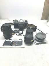 Pentax Asahi K1000 35mm SLR Film Camera Bundle Accessories 135mm 28mm 50mm