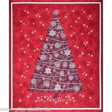 Celebrate Weihnachtsbaum Rot Patchworkstoff Stoffe Weihnachtsstoffe Weihnachten