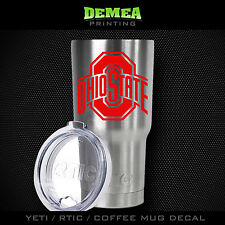"Ohio State -3"" DECAL/STICKER for Yeti/Rtic//Tumbler/Coffee/Wine"