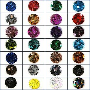 Efco Sequins Round Flat 6 mm 5g  500 Pieces Assorted Colours