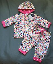 Baby Girl 3-6 Month Baby Gap Floral Polka Dot Reversible Bear Jacket & Pants