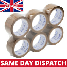 More details for strong brown parcel packing packaging tape carton sealing cellotape 48mm x 66m