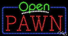 "New ""Open Pawn"" 32x17 Solid/Animated Real Led Sign W/Custom Options 25548"