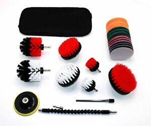 23 Piece Drill Scrub Brush Kit Fabrics/Stone/Tile/Glass SAME DAY SHIPPING WR