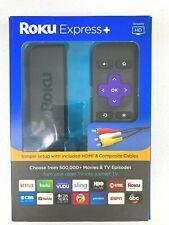 Roku Express + HD Digital Streaming Media Player 3910RW HDMI Cable Smart TV