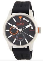 Boss Hugo Boss Mens Black Stainless Steel Watch 0334