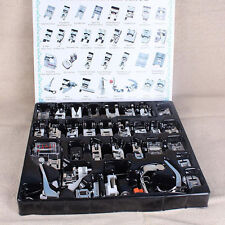 32x Domestic Sewing Machine Presser Foot Feet Full set For Janome Brother Singer
