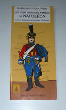 NAPOLEON army UNIFORMS coloring book Uniformes armée EHRHARD ouest France