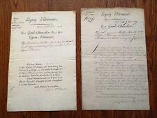 DEUX LETTRES DE LACÉPÈDE 1807-1814 LÉGION D'HONNEUR MULLER RÉGIMENT DE DRAGONS