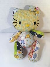 Rare! 2003 Hello Kitty patchwork plush, movable joints.Sanrio Smiles Uk release!