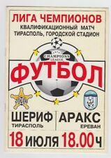 Orig.PRG  Champions League  2001/02  SHERIFF TIRASPOL - ARAKS ARARAT  !!  SELTEN