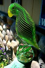Beautiful - Art Glass - Tropical Green Parrot - Awesome Colors - Parrothead