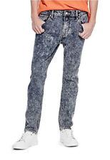 Men's GUESS Skinny Fit Low Rise, Acid wash Jeans, Vintage Indigo, 36