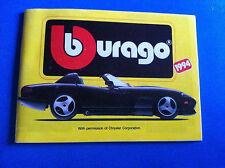 Bburago Prospekt Katalog 1994 Ferrari Jaguar MB Alfa Porsche Corvette Viper