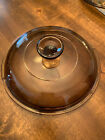 CORNING PYREX VISIONS AMBER GLASS LID V-2.5-C REPLACEMENT FIT 2.5QT
