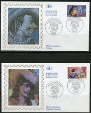 FRANCE 1997  HEROES OF ADVENTURE STORIES SET OF 6 SILK CACHET FIRST DAY COVERS
