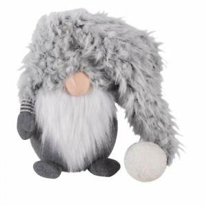 Christmas 25cm Bearded Gonk grey w long hat Super-Furry Winter Wilbert