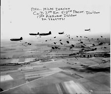MILAS ZERNICH 17TH AIRBORNE BATTLE OF THE BULGE & OPERATION VARSITY SIGNED PHOTO