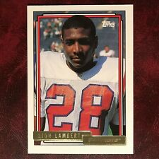 1992 Topps GOLD Set DION LAMBERT ROOKIE high #749 PATRIOTS ** MINT **
