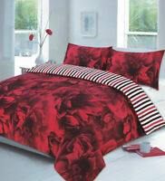 Printed Cover Bed Set Pillow Rose Luxury Microfiber Bedspread Single Double King