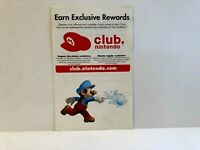 Mario Super Sluggers Club Nintendo Wii INSERT ONLY Authentic Insert