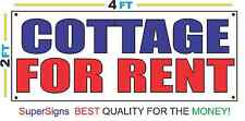 2x4 COTTAGE FOR RENT Banner Sign Red White & Blue NEW Discount Size & Price