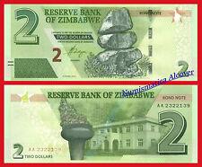 ZIMBABWE 2 Dollars bond dolares 2016 (2017) Pick NEW  SC / UNC
