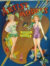 Vintage 1945 Artists Models Paper Doll Laser Reproduction~Uncut~Lo Pr~Top Seller