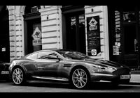 ASTON MARTIN DBS COUPE NEW A3 CANVAS GICLEE ART PRINT POSTER FRAMED