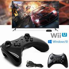 Schwarz Wireless Joystick Gamepad Pro Controller für Nintendo Wii U + USB Kabel