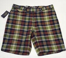 Ralph Lauren Multi Colore Madras controllo GOLF Barrow Pantaloncini 32 W