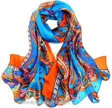 XXXL 100% echt silk Reine Seide Seidentuch Schals scarf Damen 180cmX110cm  007