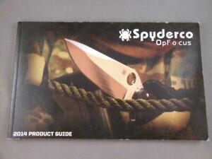 Spyderco opfocus catálogo de productos Folleto 2014 Nuevo 114 páginas