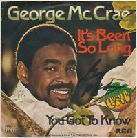 "GEORGE McCRAE - It's Been So Long - 7"" Single - Coverhülle SIGNIERT"