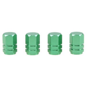 4X Green Auto Car Tyre Rim Valve Wheel Stem Air Port Dust Caps Cover Accessory