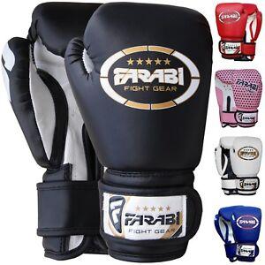 Farabi Kids Boxing Gloves Sparring Training Muay Thai Gloves Junior Mitts