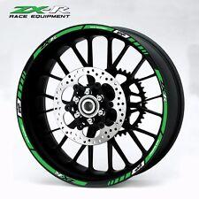 ZX-R Ninja motorcycle wheel decals 12 rim stickers set zx6r zx9r zx10r laminated