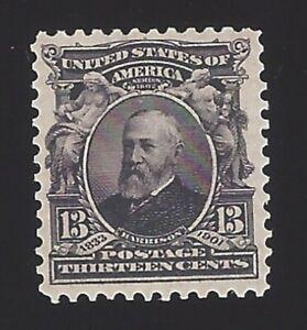 US #308 1902-03 Purple Black Wmk 191 Perf 12 Mint OG LH VF SCV $40
