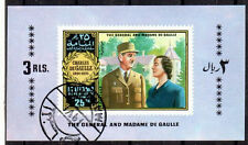 OPC106 GÉNÉRAL DE GAULLE Manama 1 bloc oblitéré