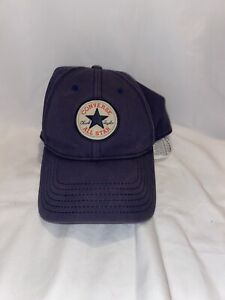 Converse Vintage All Star Chuck Taylor Star Patch Baseball Cap Navy StrapBack