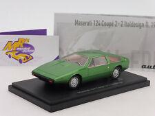 """Autocult 05028 # Maserati 124 COUPE 2+2 Italdesign Année 1974 """"Vert métallisé"""" 1:43"""