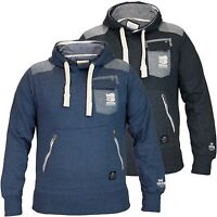 Mens Crosshatch Hooded Pull Over Designer Sweatshirt Long Sleeve Fleece Top