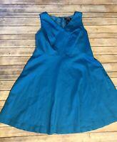 lane bryant 20 dress sleeveless Turquoise