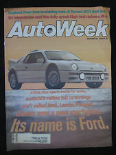 AUTOWEEK Magazine  December 24, 1984 Audi Lancia Peugeot FORD Ferrari GTO