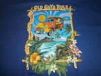 "OLD GUYS RULE ""WOODIE EXPRESS"" WOODY SURF SURFBOARD LONGBOARD FIN S/S T-SHIRT L"