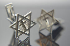 Star Of David Religious  Messenic cufflinks Sterling Silver .925