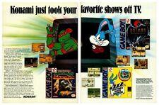 Vtg. 1994 Konami Nintendo Game Boy Turtles Batman video game two-page print ad