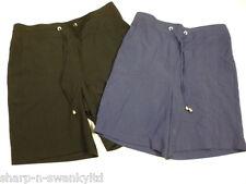 ☆ Ladies Navy Blue or Black Casual High Waisted Crinkle Shorts UK 10 EU 38 ☆